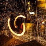 Spettacolo notturno di fuoco